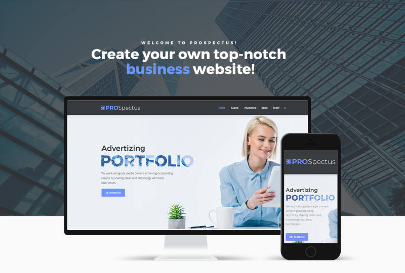 Prospectus - Advertising Portfolio WordPress Theme - Features Image 1