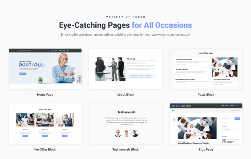 Prospectus - Advertising Portfolio WordPress Theme - Features Image 2
