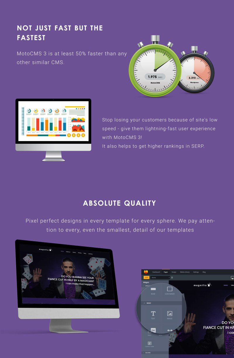 Magnifio - Magician Artist & Performer Moto CMS 3 Template - Features Image 4