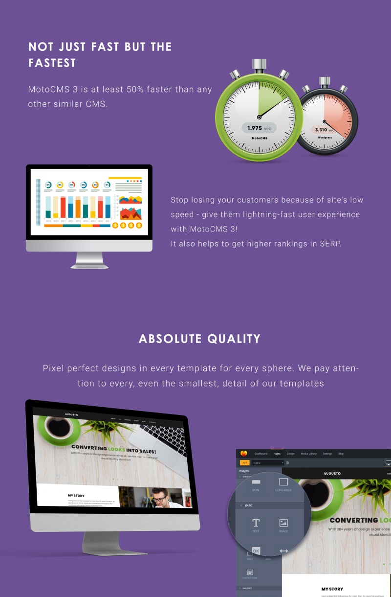 Augusto - Freelance Designer Moto CMS 3 Template - Features Image 4