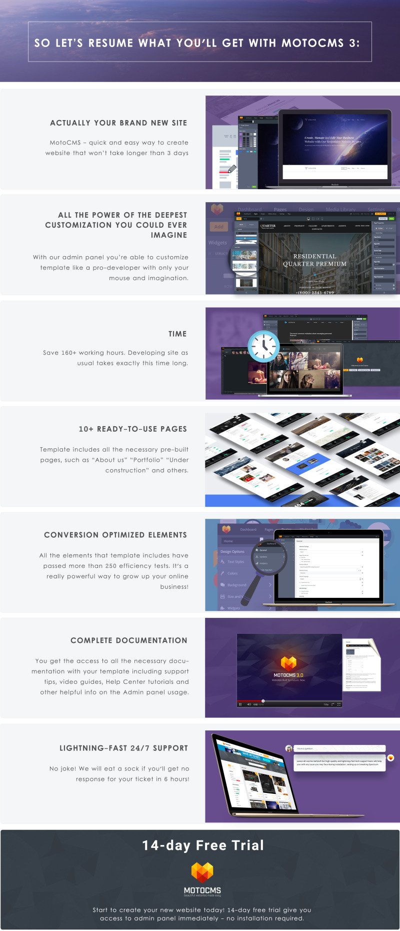 Augusto - Freelance Designer Moto CMS 3 Template - Features Image 6