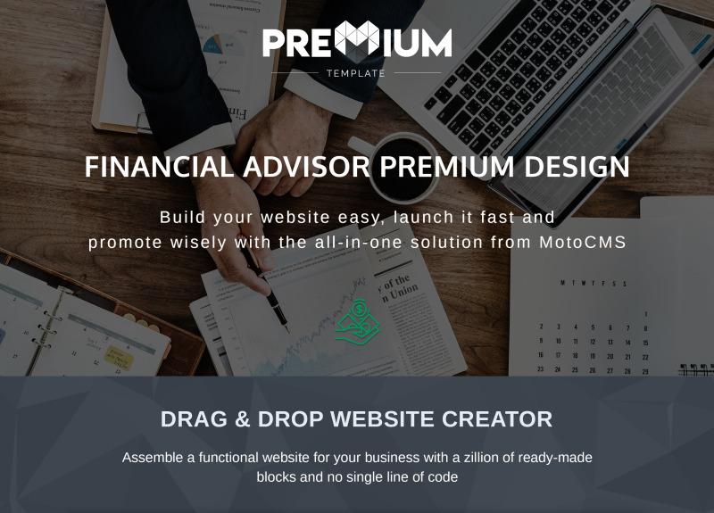 Financial Advisor Premium Moto CMS 3 Template - Features Image 1