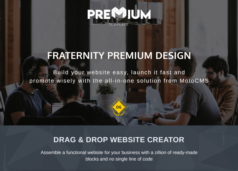 College Fraternity Moto CMS 3 Template - Features Image 1