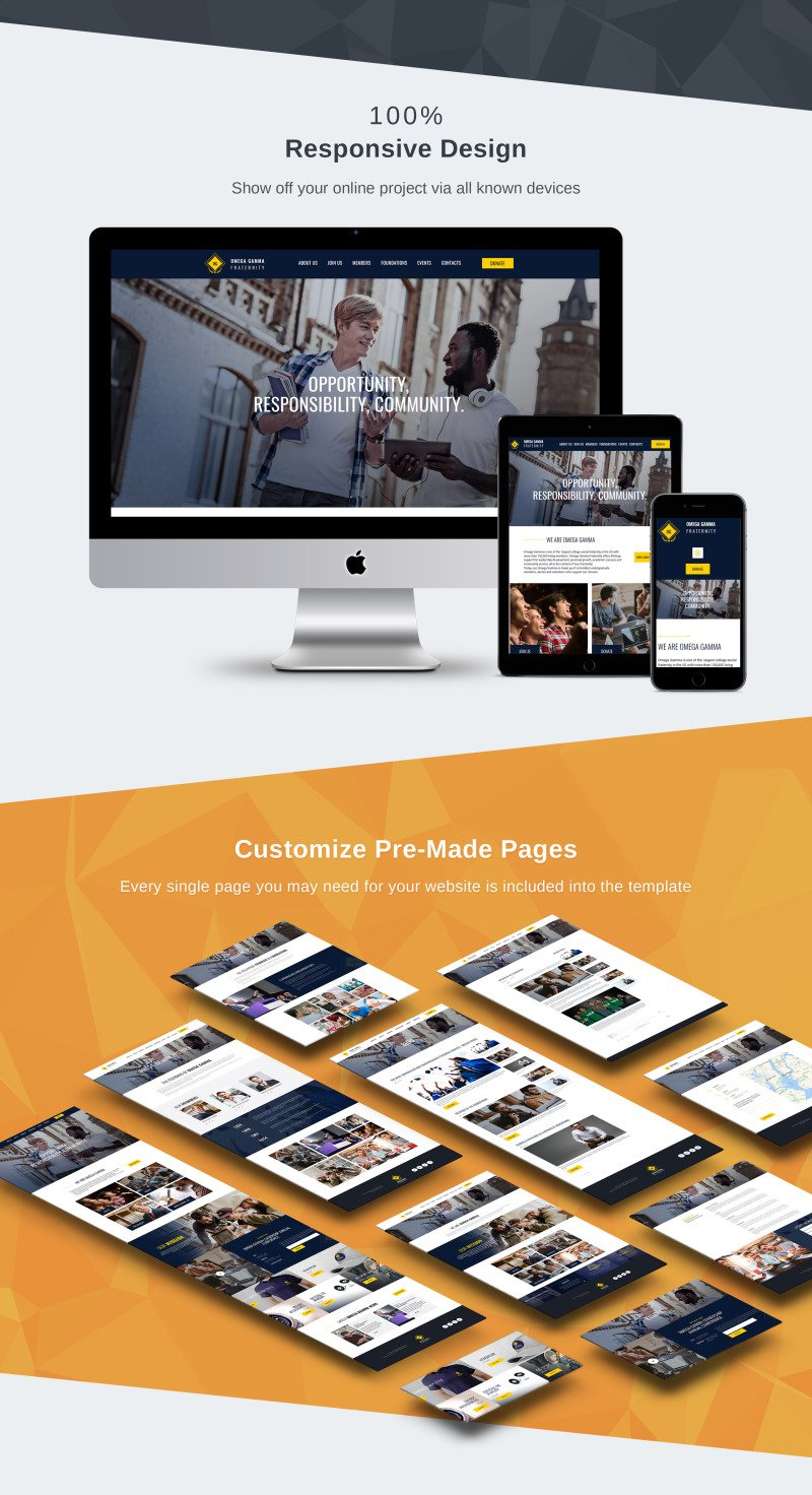 College Fraternity Moto CMS 3 Template - Features Image 3