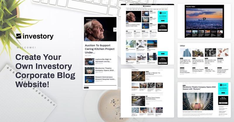 Investory - Corporate Blog WordPress Elementor Theme - Features Image 1