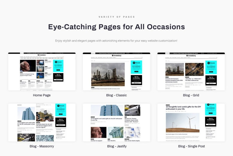 Investory - Corporate Blog WordPress Elementor Theme - Features Image 2