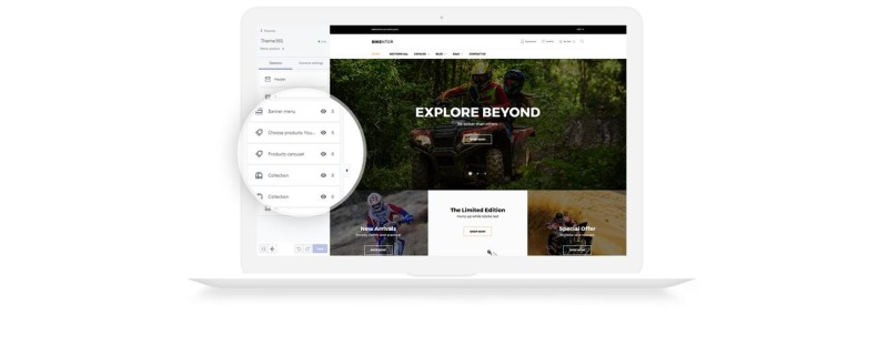 Bikentor - Extreme Motorcycle Online Store Shopify Theme - Features Image 5