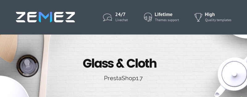 Glass and Cloth - Dishes Store PrestaShop Theme - Features Image 1
