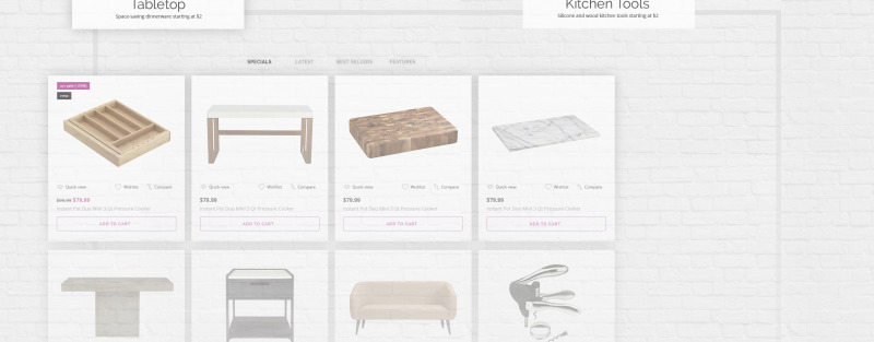 Glass and Cloth - Dishes Store PrestaShop Theme - Features Image 5