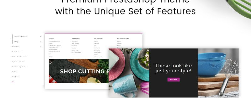 Glass and Cloth - Dishes Store PrestaShop Theme - Features Image 7