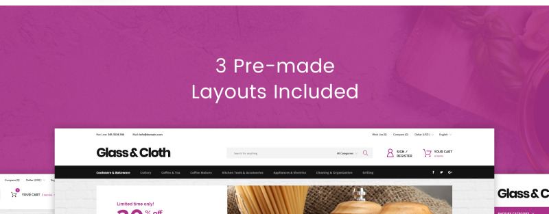 Glass and Cloth - Dishes Store PrestaShop Theme - Features Image 9