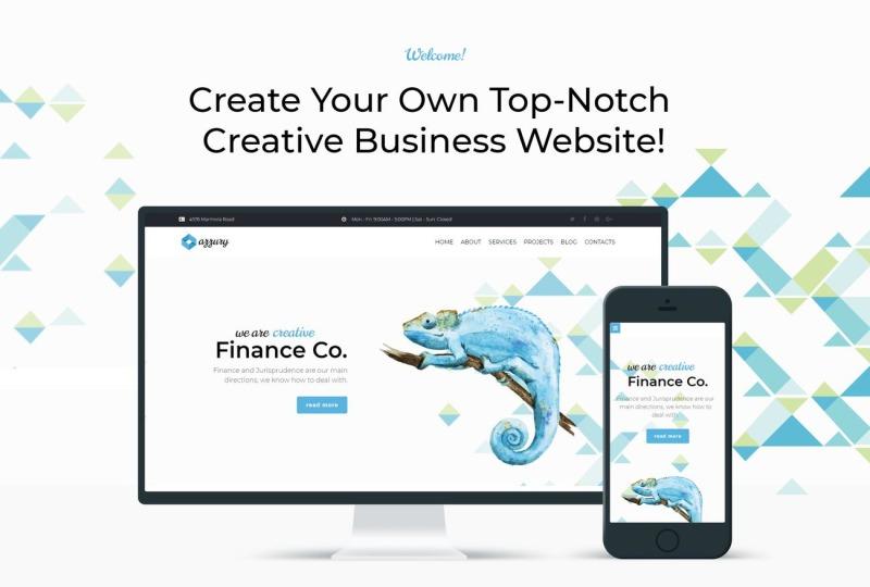 Azzury - Creative Business WordPress Elementor Theme - Features Image 1
