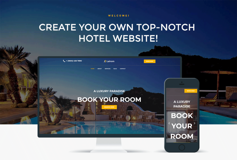 Lairom - Hotel Multipurpose Modern WordPress Elementor Theme - Features Image 1
