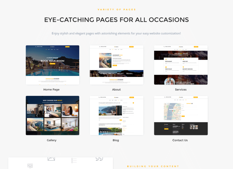 Lairom - Hotel Multipurpose Modern WordPress Elementor Theme - Features Image 2