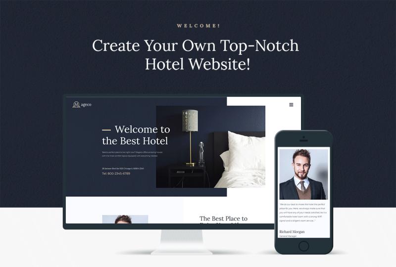 Mageco - Hotel Multipurpose Minimal Elementor WordPress Theme - Features Image 1