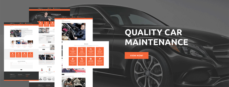 Car Repair lite WordPress Theme - Features Image 1