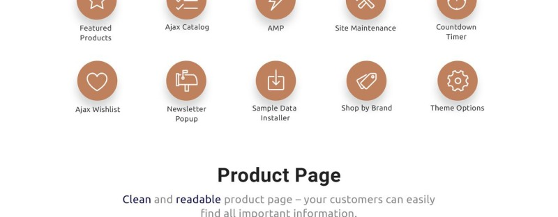 Gifto - Gifts Store Clean eCommerce Magento Theme - Features Image 3