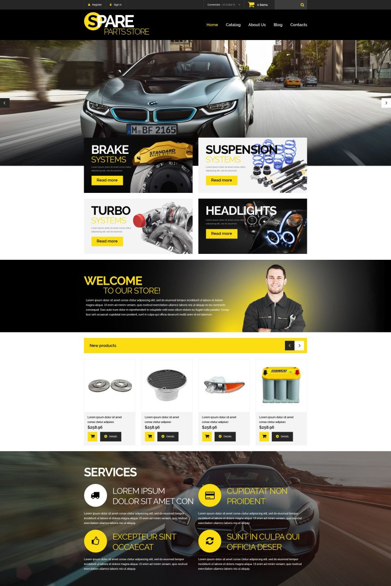 Car Spares VirtueMart Template