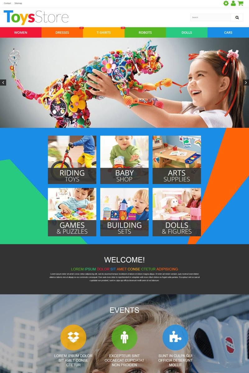 Toys Store Responsive PrestaShop Template