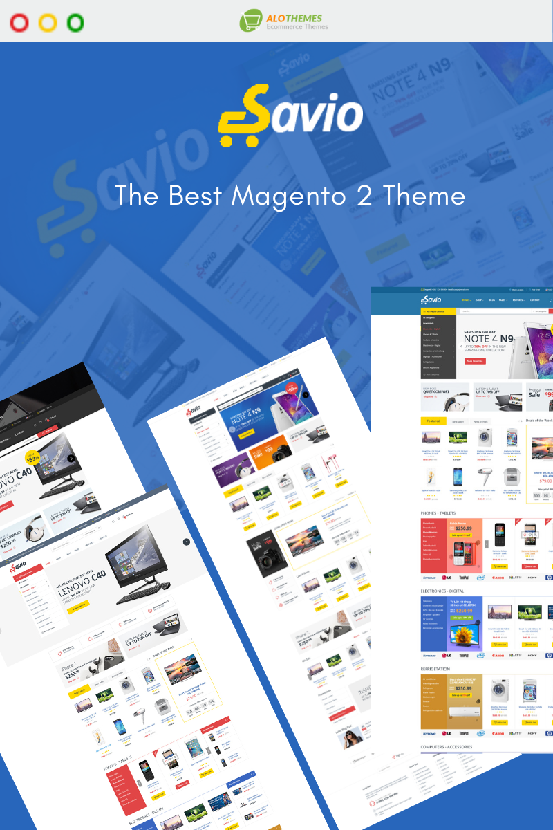Savio - Digital & Electronic Marketplace Magento Theme