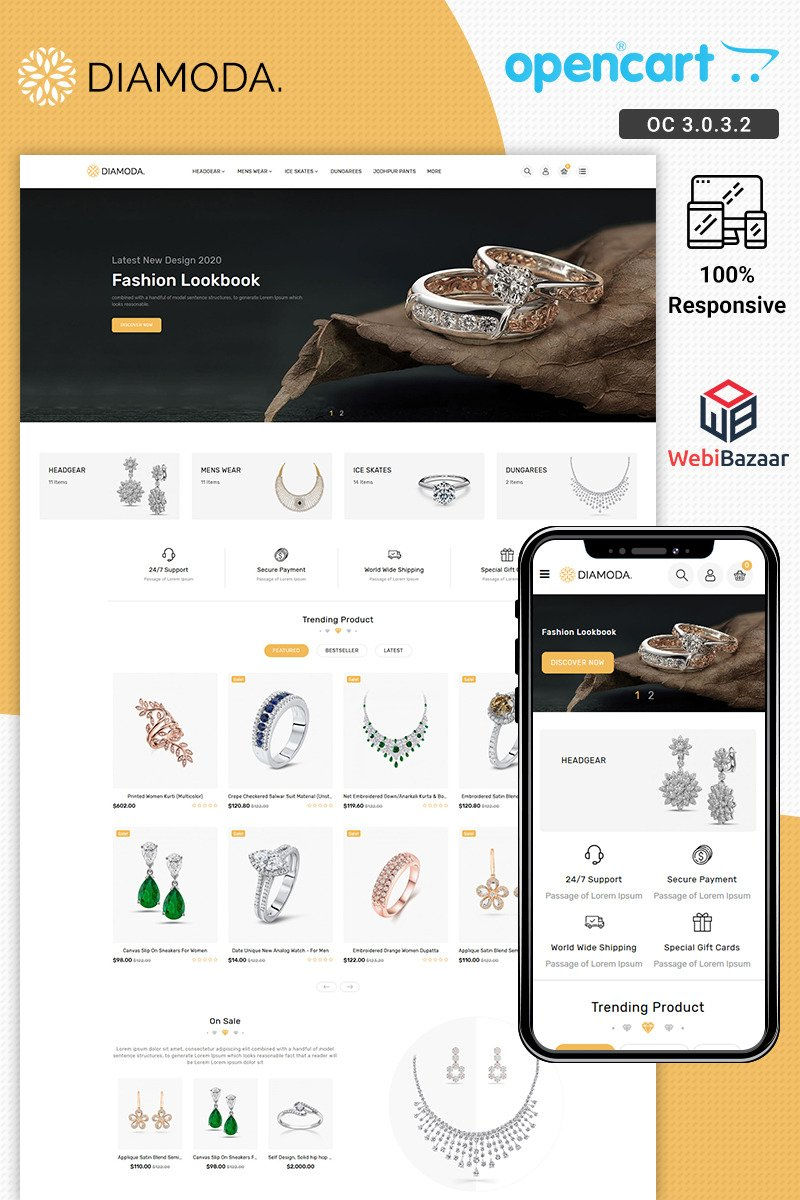 DIAMODA - Jewellery OpenCart Template
