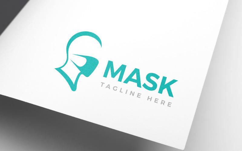 Шаблон логотипа дизайн маски для лица защиты лица