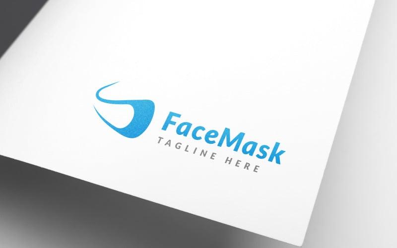 Шаблон логотипа дизайн современной маски для лица