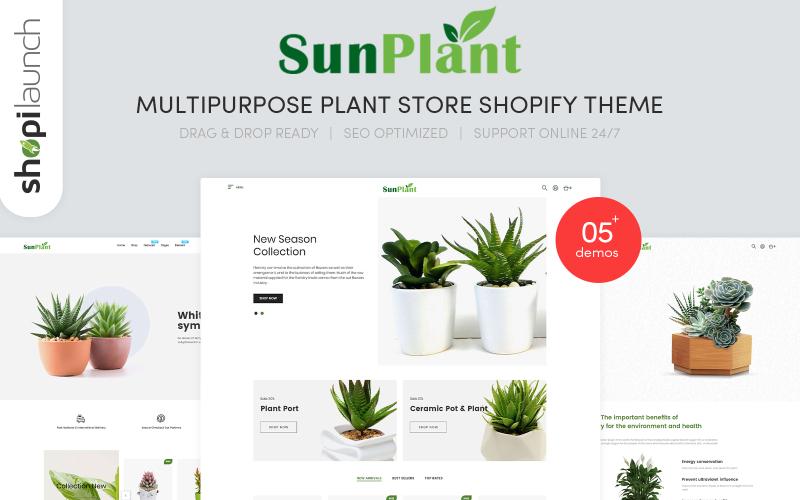 Sunplant - MultiPurpose Plant Store Responsive Shopify Theme