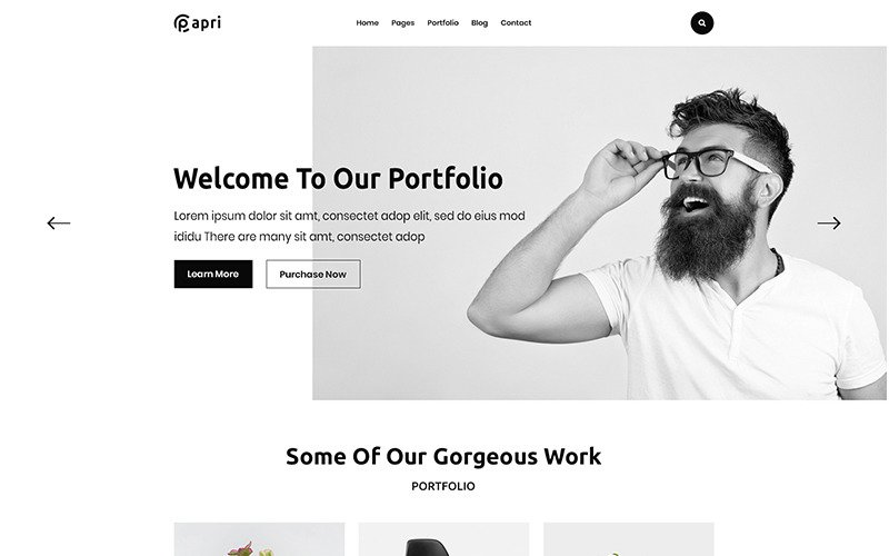 Papri - Portfolio Creative HTML5 Template Website Template