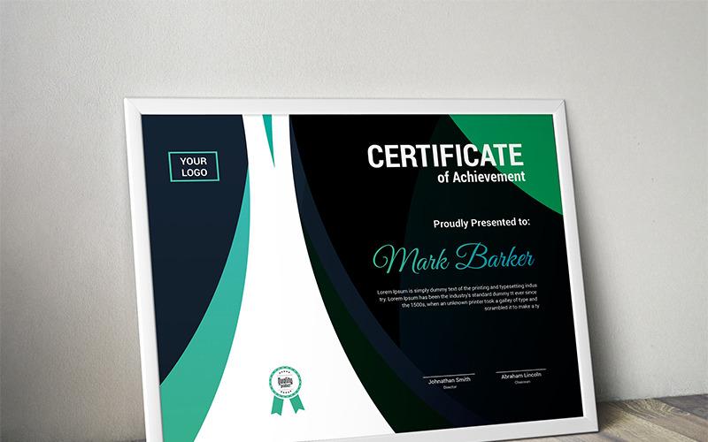 Пышный красочный шаблон сертификата