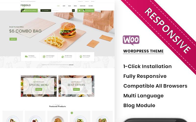 Foodilo - A gyorséttermi és éttermi üzlet WooCommerce témája