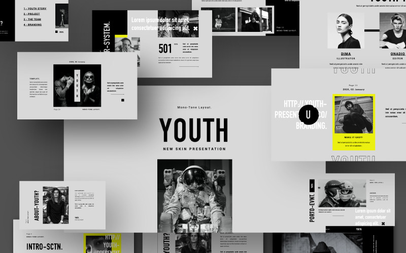 Youth Presentation Powerpoint Template 100207
