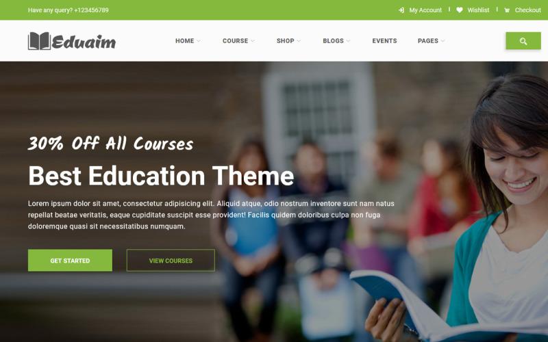 Eduaim - Education Website Template