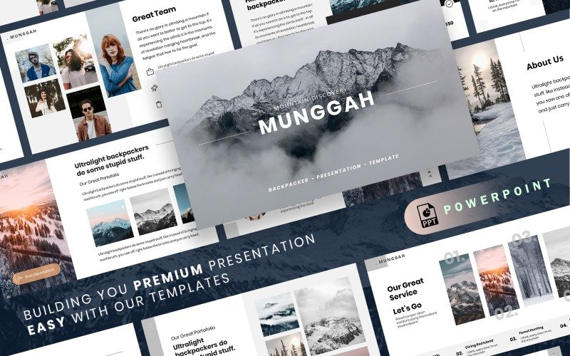 MUNGGAH - Outdoor Presentation PowerPoint template