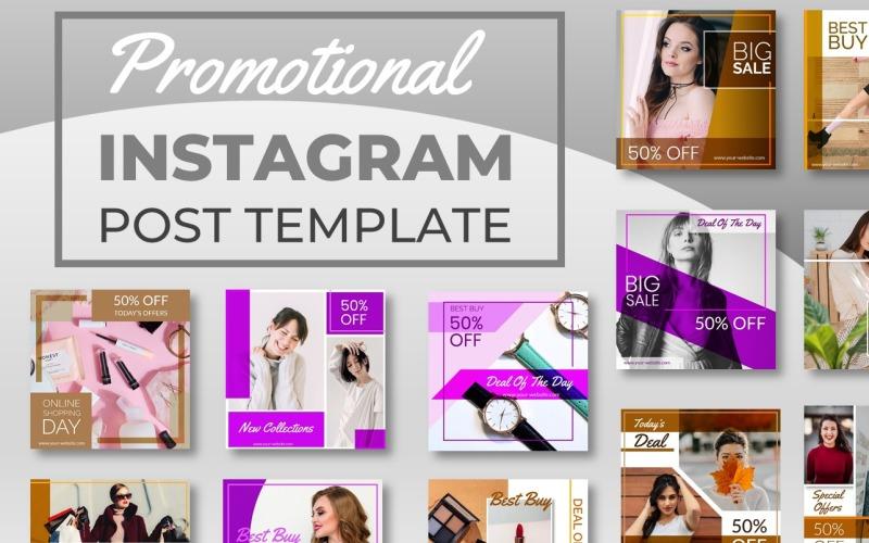 12 Promotional Instagram Post Template for Social Media