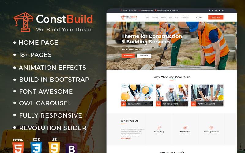 ConstBuild : Construction, Building & Renovation Website Template