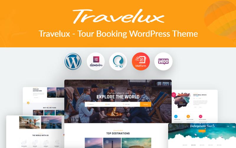 Travelux-旅游预订WordPress主题