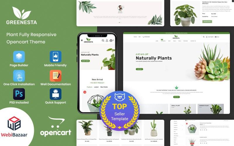 Greenesta Organic - Élelmiszer- és élelmiszerbolt OpenCart sablon