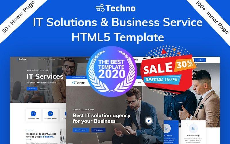 Techno-IT-oplossing en bedrijfsadvies HTML5-sjabloon
