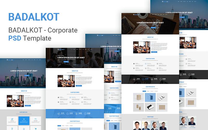 Badalkot - Универсальный корпоративный PSD шаблон