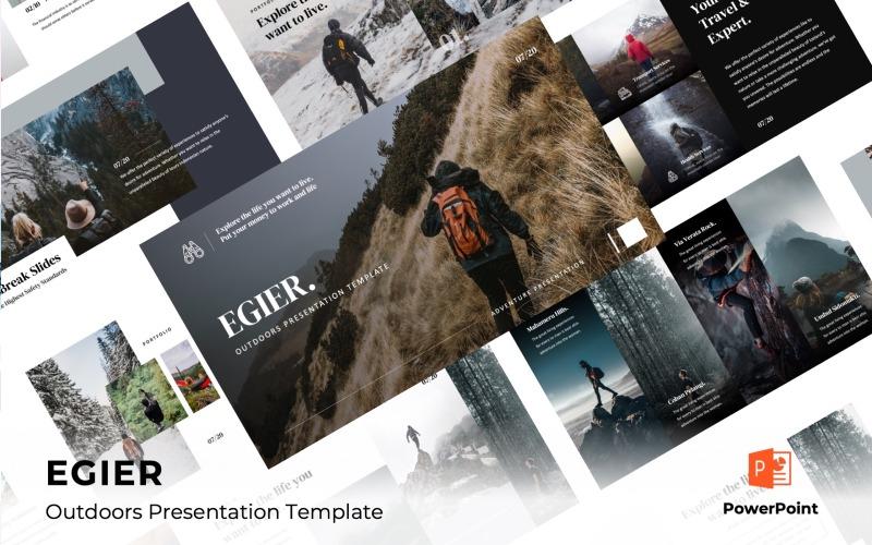 EGIER - Avontuur en reizen Sjablonen PowerPoint presentatie