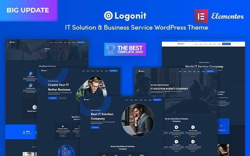 Logonit - motyw WordPress dla rozwiązań IT i responsywnych usług biznesowych