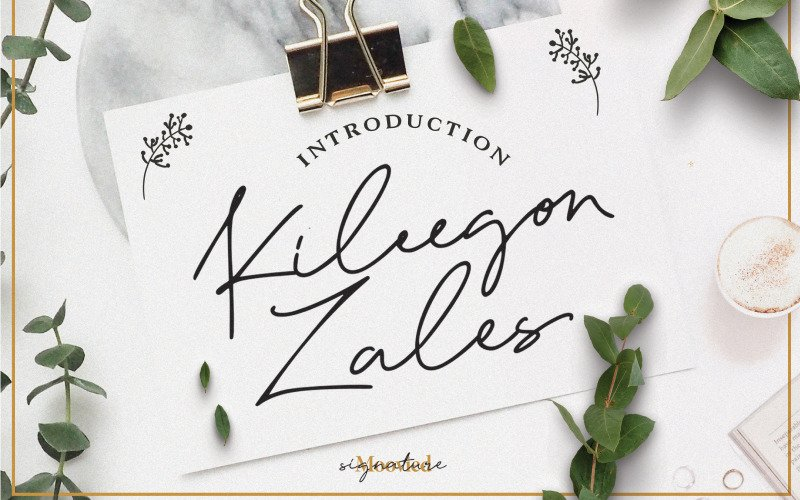 Шрифт Kileegon Zales