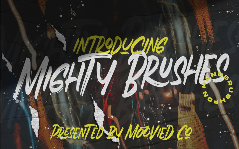 Шрифт Mighty Brushes