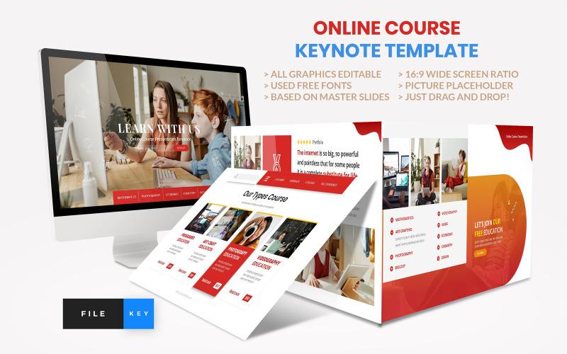Online tanfolyam - Oktatás - Keynote sablon