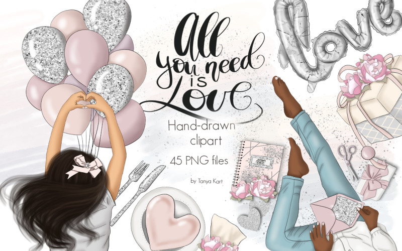 All You Need Is Love Graphic Design - Illustration