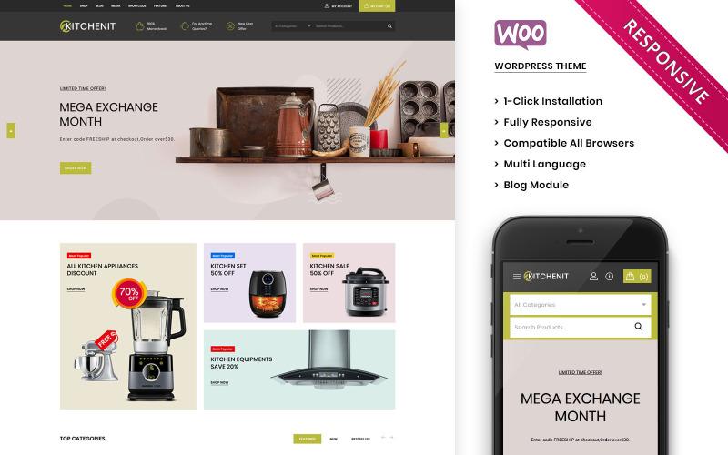 Kitchenit: el tema premium de WooCommerce de Mega Kitchen Store