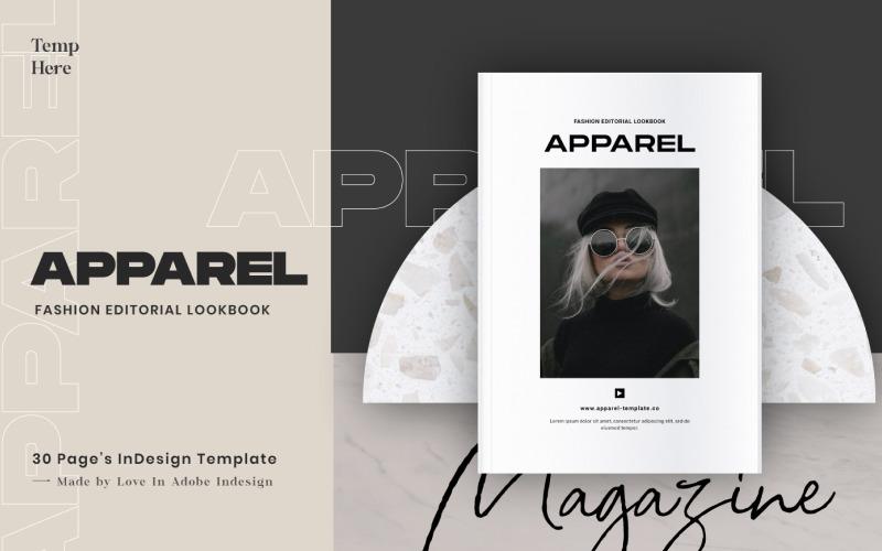 Шаблон журнала APPAREL Fashion Editor Lookbook