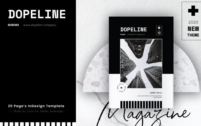 Шаблон журнала DOPELINE COMPANY PROFILE