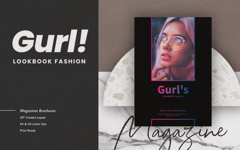 Шаблон журнала Gurl Lookbook Collection